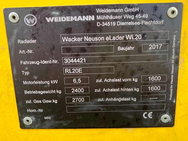 Wacker Neuson WL20e 2018